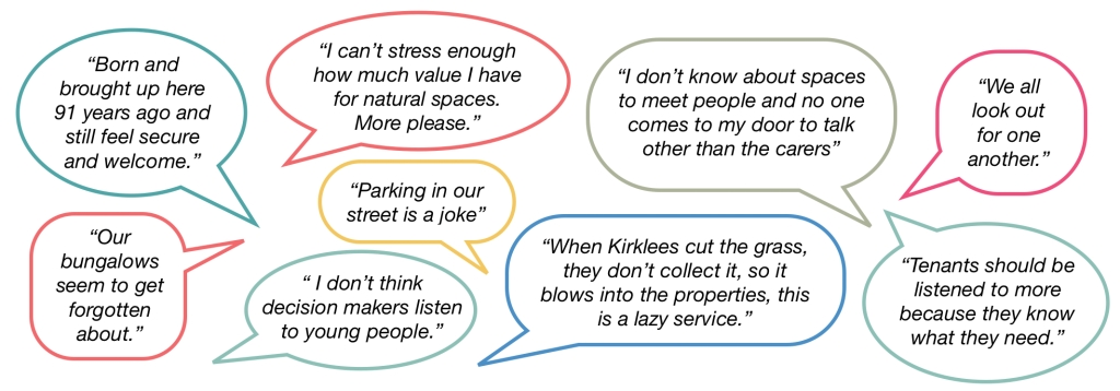 Quotes from tenants and leaseholders